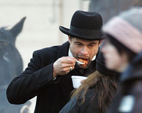 Brad Pitt Eating Things