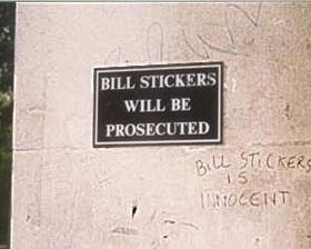 Free Bill Stickers